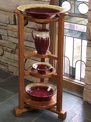 Good Shepherd Baptismal Font Stand Set