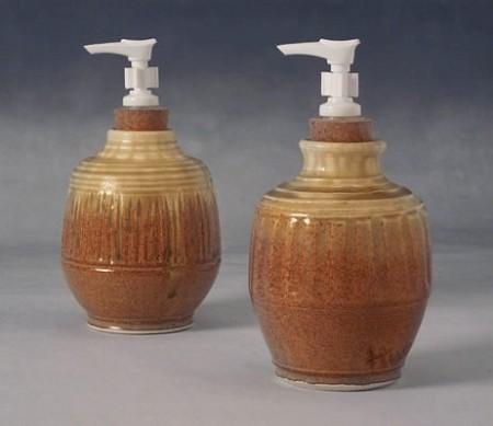 Nutmeg/Ivory glazed Hand Sanitizer Pumps
